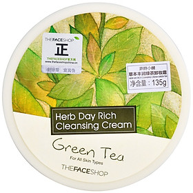 Kem Tẩy Trang THE FACE SHOP Herbal Creamy Cleansing Cream (135g)