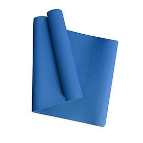 Thảm Yoga MIKIE MAT CLASSIC BLUE 1 màu - TPE nguyên khối - Dày 6mm - Thành phần cao su non tự nhiên - Chống trượt, Không mùi