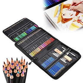74-Piece Professional Drawing Pencils and Sketch Set Includes Colored Pencil Sketch Charcoal Pastel Pencil Sharpener