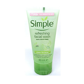 Sữa rửa mặt Simple Kind To Skin Refreshing Facial Wash Gel - 50ml