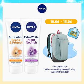 Combo Tinh chất dưỡng thể trắng da NIVEA ngày 180ml & đêm 200ml (88314+89122)