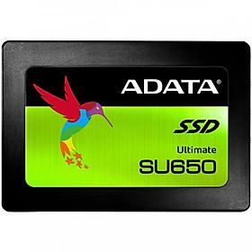 Ổ cứng SSD ADATA Ultimate SU650 Sata III 3D-NAND 2.5 inch 240GB - Hàng Chính Hãng
