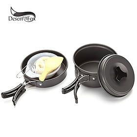 Bộ nồi dã ngoại cho 1-2 người Desert&Fox DS-200 Camping Cookware Pots Set