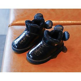 Giày Lót Lông Đế Mềm Cho Bé, Boot Mickey Bé Gái GCC13