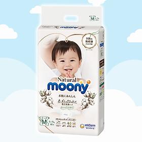 Tã/bỉm dán Moony Natural Size M-46 miếng( bé 6-11kg)
