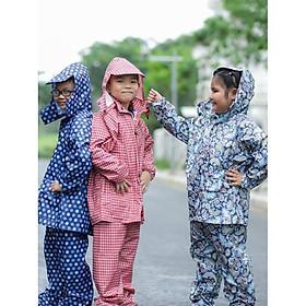 Bộ Quần áo mưa Trẻ em : Siêu bền - Siêu Nhẹ từ 4 -13 tuổi
