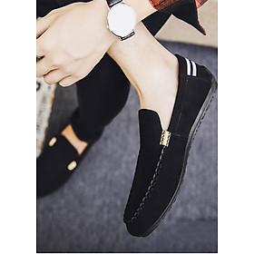 Giày Lười Nam Ôm Chân Kiểu Dáng Hàn Quốc - Màu Đen SV05