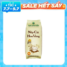 Gạo Nếp đặc sản Cái Hoa Vàng Vinh Hiển túi 1KG - Nếp sạch 3 KHÔNG