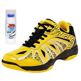Giày cầu Kawasaki K076 màu vàng chính hãng - Tặng kèm bình làm sạch giày cao cấp