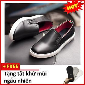 Giày Slip On Nam Aroti Đế Khâu Chắc Chắn Phong Cách Đơn Giản Màu Đen - M498-DEN(T)-DEN