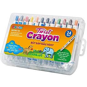 Bút Sáp Màu Xoay Chicko Cho Bé - 24 Màu (Hộp Nhựa Pp)