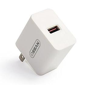 Hình đại diện sản phẩm Adapter sạc 1 cổng Ossan sạc nhanh QC 3.0 OS-A3 - Hàng chính hãng