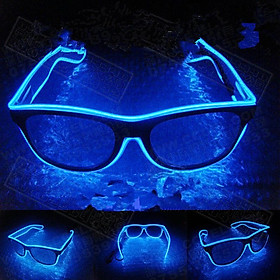 LED Flashing EL Luminous Glasses Party Decorative Lighting Classic Gift Bright Prop Light Up Party Glasses Party Decor