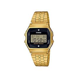 Đồng Hồ Casio Nam Dây Thép Đính Kim Cương Thật A159WGED-1 - Vàng