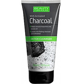 Sữa rửa mặt Formulas Beauty Detox Cleanser with Activated Charcoal 150ml - than hoạt tính tẩy độc tố