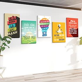 Bộ 5 tranh slogan canvas tạo động lực [trang trí văn phòng] vcb-a