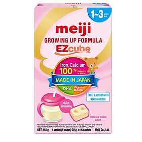 Sữa Meiji Ezcube Growing Up Dạng Viên (448g)