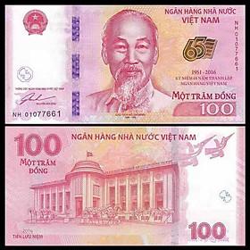 Tờ tiền 100 đồng kỷ niệm 65 năm thành lập Ngân hàng Việt Nam