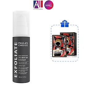 Gel tẩy tế bào chết Paula's Choice skin perfecting 2% BHA gel exfoliant 100ml TẶNG hộp mặt nạ Sexylook (Nhập khẩu)