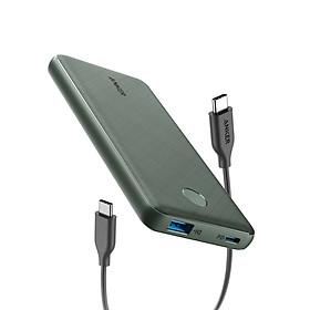 Pin Sạc Dự Phòng Anker PowerCore Slim 10000mAh PD Hỗ trợ sạc nhanh USB-C PD 18W In/Out - A1231 - Hàng Chính Hãng