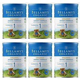 6 Lon Sữa Bột Bellamy's Organic Số 1 (900g)