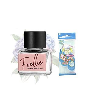 Nước Hoa Vùng Kín Foellie Eau De Fleur Inner Perfume (Màu Hồng) -  hương trái cây dịu ngọt + Tặng Kèm 1 Túi Lưới Rửa Mặt Tạo Bọt