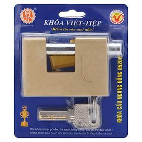 Ổ Khoá Việt Tiệp Cầu Ngang Loại Lớn 76 x 53 Ống Phi 12mm