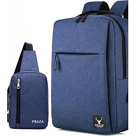 Combo Balo Laptop Cổng USB & Túi Đeo Messenger PRAZA - BL174DC095