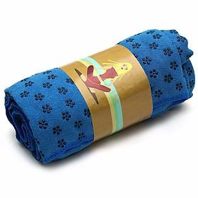 Khăn trải thảm tập YOGA - màu xanh dương