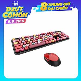 Bàn phím và chuột màu hỗn hợp trò chơi 2.4Ghz không dây Vintage Universal Bàn phím và bàn chơi game dành cho nữ