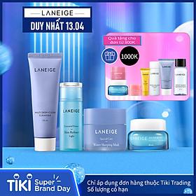 Combo Laneige dưỡng ẩm đặc biệt dành cho da khô (Sữa rửa mặt Multi Deep Cleanser 50ml và Mặt nạ dưỡng ẩm Water Sleeping Mask 25ml)