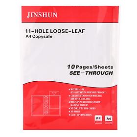 Xấp 10 Cái Bìa Lỗ A4 Jinshun - Màu Đỏ