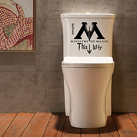 Gobestart Ministry Of Magic Of This Way Bathroom Doors Decoration Wall Stickers Wall