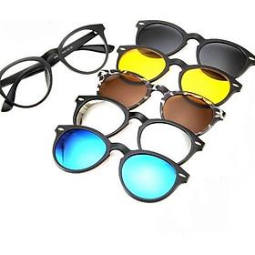 Kính râm màu 6 in 1 kính râm cận kính mát độ MẮT MÈO kính 5 in 1 kính đi biển kính thời trang