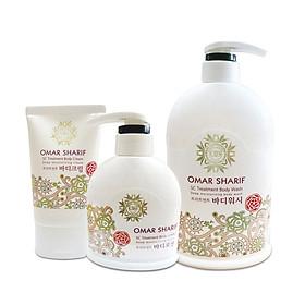 Bộ chăm sóc cơ thể OMAR SHARIF Whietening Body Care Bộ Sữa Tắm Trắng Mịn Da, Chống Lão Hóa