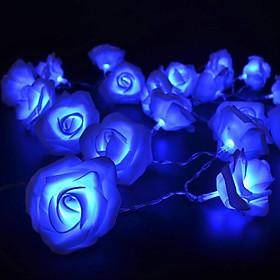 Dây Đèn LED Hoa Hồng Cỡ Lớn Nhiều Màu Trang Trí Tiệc Cưới, Quà Tặng - 3 mét 20 hoa