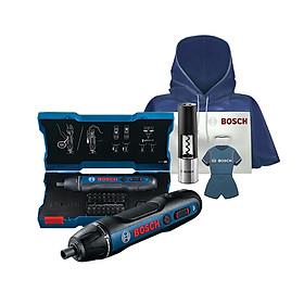 Máy vặn vít dùng Pin Bosch Go Gen II 32 chi tiết MỚI tặng kèm 2 loại đồ khui và áo mưa Bosch