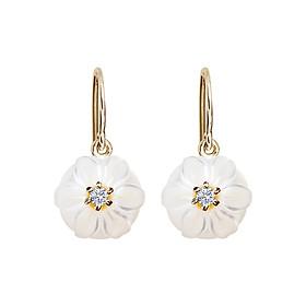 Bông Tai Galatea Jewelry Momento Talking Pearl MO-40EYW - Trắng