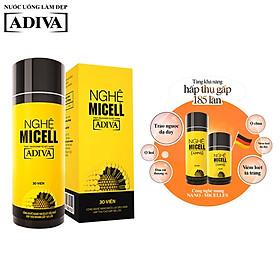 Nghệ Micell Adiva - Thực phẩm bảo vệ sức khỏe (30 viên/hộp)