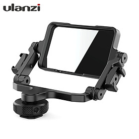 Ulanzi PT-14 Camera Flip Mirror Bracket Selfie Vlog 360 Degree Rotation Mount with Cold Shoe 1/4 Inch Screw Hole for
