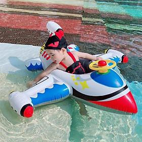 Phao bơi cho bé chống lật xỏ chân có mái hình máy bay 1-4 tuổi