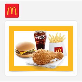 McDonald's - Enjoy McDonald's A (Ecode Combo- Cheeseburger)