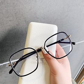 Kính cận thời trang gọng nhựa mắt kính không độ phong cách Hàn Quốc