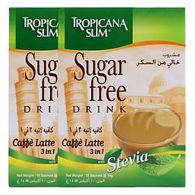 Combo 2 Hộp Cà Phê Ăn Kiêng Tropicana Slim Caffè Latte 3in1 (10 x 14g)