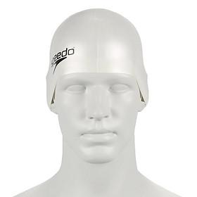 Nón Bơi Trẻ Em Speedo Plain Moulded Silicone (Trắng) 270519 (Size One Size)