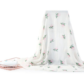 insular Muslin Swaddle Blanket Bamboo Fiber & Cotton Baby Blankets Soft & Breathable Portable Nursery Blankets for