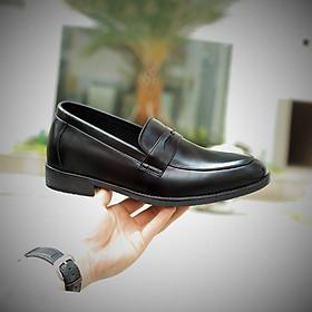 Giày Lười Nam Da Bò Đế Cao Su - DySeven - Cực Êm Thoáng Khí - Chất Liệu Chống Hôi Chân