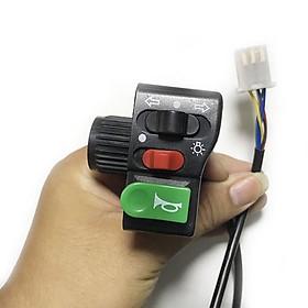 Cụm công tắc đèn còi xinhan xe đạp điện