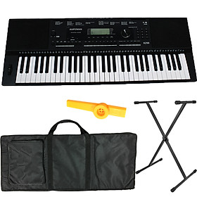 Bộ Đàn Organ Kurtzman K250 (Đã cài sẵn Sample - Bàn Phím cảm ứng lực, Có Pitch Bend - KZM Touch Response Keyboard - Đàn, Chân, Bao, Nguồn, Kèn Kazoo)