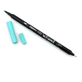 Bút lông hai đầu màu nước Marvy LePlume II 1122 - Brush/ Extra fine tip - Caribbean Blue (104)